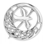 Iona Abbey Silver Round Knot Brooch 9356